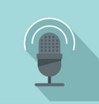 studio microphone icon flat style vector image vector image