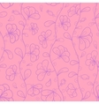 Stylized flowers in pastel rosy and violet colors vector image vector image