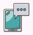 tablet technology isolated icon vector image vector image