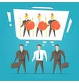 Teamwork business team vector image vector image