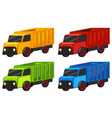 trucks in four colors vector image