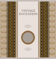 vintage invitation background with greek ornament vector image