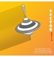 whirligig Flat modern web button with long shadow vector image vector image