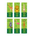 wild animals in jungle banner ticket vector image
