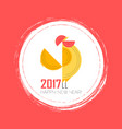 year rooster chinese new year design graphic vector image