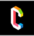 3d colorful letter c logo icon design template vector image vector image