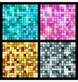 4 seamless mirror mosaic vector image