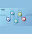 5 steps timeline chart infographic design vector image vector image