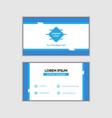 abstract simple blue business card vector image vector image