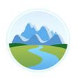 alps in cartoon style vector image vector image