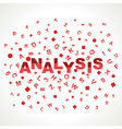 Analysis word with in alphabets vector image
