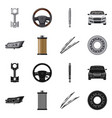 auto and part symbol set vector image