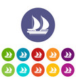 big yacht set icons vector image vector image