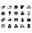 Black Business management concept icons vector image vector image