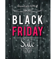 Black friday sale banner on wooden background vector image vector image