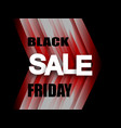 black friday sale banner stylish red and black vector image vector image