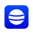 black with white stripes icon digital blue vector image vector image