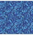 Blue Fresh Indian Pattern vector image vector image