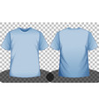 blue short sleeve t-shirt front and back side