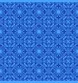 blue vintage pattern vector image vector image