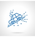 Car slope down blue line icon vector image vector image