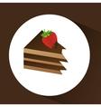 chocolate sugar desert vector image vector image