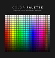colorful palette full spectrum colors with vector image vector image