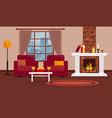 Cozy livingroom with fireplace interior design