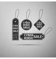 Cyber Monday Sale tag flat icon on grey background vector image vector image