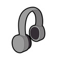 earphones audio isolated icon vector image vector image