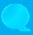 empty transparent glass chat bubble on a blue vector image vector image