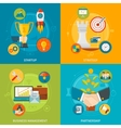 Entrepreneurship 2x2 Design Concept vector image