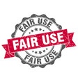 fair use stamp sign seal vector image vector image
