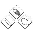 figure cutlery icon image design vector image vector image