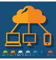 Flat design cloud technology vector image
