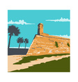 Fort Marion St Augustine WPA vector image vector image