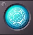 futuristic circle button background vector image vector image