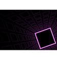 Glowing Neon Square Background vector image vector image