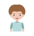half body child with t-shirt vector image