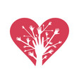 hand heart3 vector image vector image