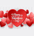 happy valentines day background with bright vector image vector image