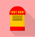 hot dog small shop icon flat style vector image vector image