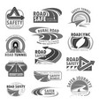icons set for road safety construction vector image vector image
