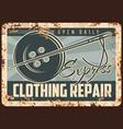 individual tailoring retro rusty metal plate vector image