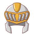 knight helmet medieval icon cartoon style vector image vector image
