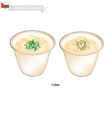 Laban or Omani Fermented Milk with Sour Flavor vector image vector image