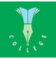 logo college vector image vector image
