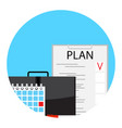 making monthly business plan for deadline vector image