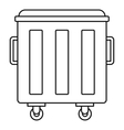 Metal trashcan icon outline style vector image vector image