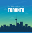 modern toronto canada city skyline banner vector image vector image